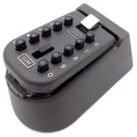 Wholesale Security Wall Mounted Protable Safe Combination Key Storage Box Black Color from china suppliers