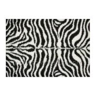 Wholesale Black / White Animal Pattern Polyester Shaggy Rug, Contemporary Shag Area Rugs from china suppliers