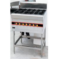 Wholesale Floor Type 40KW Commercial Gas Cooking Stove 4-8 Burner 900x800x950mm from china suppliers