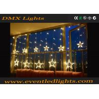 Wholesale Warm White Star Shape Led Curtain Lights Back Drop For Home from china suppliers