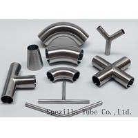 "Wholesale Equipment Usage Sanitary Valves And Fittings Stainless Steel Tee Welded End 1""x1""x1"" from china suppliers"