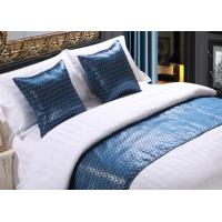 China Shining Imitated Silk Bed Runner Luxury Decorative For Hotel on sale