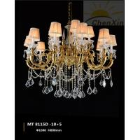 Wholesale Crystal Water Drop Luminaire Chandelier Pendant Lights Lace Glass Lampshade from china suppliers