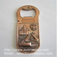 Wholesale 3D designed metal beer bottle openers, personalised 3D metal bottle openers from china suppliers