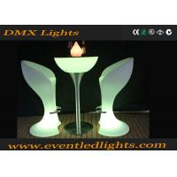 Wholesale CE & ROHS Approved illuminated plastic led cocktail table for party , events from china suppliers