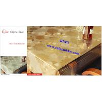 Buy cheap PVC Table Cloth --RNPT Crystal lace table cloth ---TC255-T003 gold table cloth from wholesalers