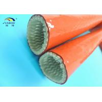 Wholesale Silicone Coated Fireproof Sleeves HighTemperature Glass Fibre Insulation Sleeving from china suppliers