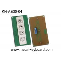 Wholesale 4 Keys Metal Kiosk Keyboard , stainless steel keypad for Service Evaluation Device from china suppliers