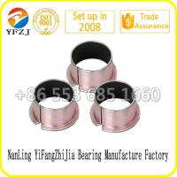 Wholesale hot sale oilless bearing series Flanged plain bush ,DU bush black PTFE coated ,SF-1F0808 from china suppliers
