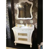 Wholesale PVC Golden Painting Embossing Floor Standing Bathroom Cabinet With Mirror from china suppliers