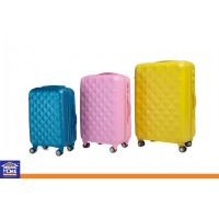 Wholesale ABS PC Zipper Grid Travel Luggage Cases with Omni-directional Wheels , Coded Lock Suitcase from china suppliers