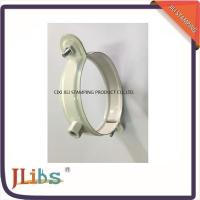 Wholesale White Coating Wall Mount Pipe Clamp , Galvanised Steel Down Pipe Clamp from china suppliers