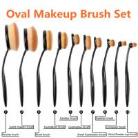 Wholesale 10pcs Oval Makeup Brush, Make up Brushes, Oval Toothbrush Makeup Brush Set from china suppliers