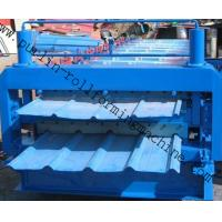 Buy cheap Metal Roofing Double Layer Roof Tile Roll Forming Machine, Professional Durable Roof Tile Bending Machine from wholesalers