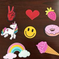Wholesale Self Adhesive Colourful Leather Bag Stickers , Custom Embossed Leather Patches from china suppliers