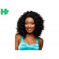 Wholesale Black Color 12 Inches Curly Short Synthetic Wigs , High Temperature Fiber Synthetic Hair from china suppliers