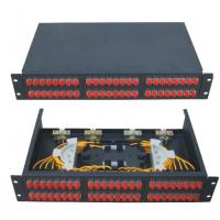 Wholesale 19 inch size Fixed type Rack-mount ODF Fiber Optic Patch Panel in black color cold-rolling steel sheet from china suppliers