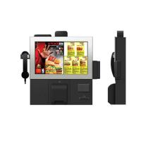 Buy cheap Smart design customized 17 inch wall mounted touch screen kiosk with hand phone from wholesalers