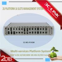 Wholesale 2U Height 16 Slots Media Converter Rack Mount Chassis with Dual Power AC 220V DC 48V from china suppliers