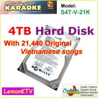 Quality 21440 Vietnamese HD songs include 4TB HDD All-in-one Android Lemon karaoke player large capcuity hard drive for sale