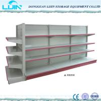 Quality 5 Levels Metal Supermarket Display Racks Powder Coated Surface Various Color for sale