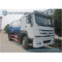 Wholesale Large 12000L Q235 Vacuum Tank Truck , 6 Tyre Sinotruk HOWO Truck from china suppliers