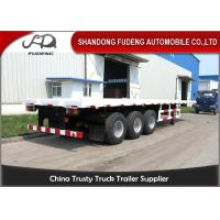 Wholesale 2 / 3 Axle 20 Foot Flatbed Trailer / Truck Flatbed Trailers With Container Lock from china suppliers