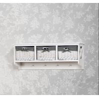 Quality Wall hanging shelf cabinet wood rack Storage holder with hook European style wall decoration home garden decoration for sale