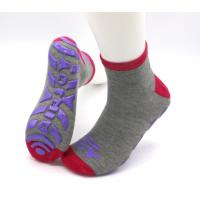 Professional Non Slip Grip Socks / Skid Proof Socks Soft Fabric Any Logo Available for sale