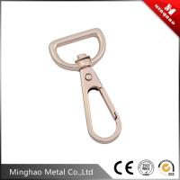 Wholesale 18.2mm D shape swive snap hook,zinc alloy gold metal snap hook for handbags from china suppliers