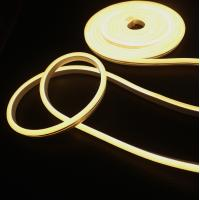 Wholesale Super Flex Silicone extrusion led neon strip rope 24v 120led/M warm white soft ribbon tape lights 2825smd waterproof from china suppliers