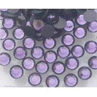 Wholesale ss10/3mm  tanzanite/violet iron on rhinestone pedreria for dresses from china suppliers