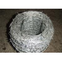 Wholesale Heavy Duty Barbed Galvanized Iron Wire For Wine , Prison Low Carbon Steel Wire from china suppliers