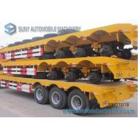 Wholesale Load Capacity 50 T Lowbed Flatbed Semi Trialer 3 Axles FUWA 13 T from china suppliers