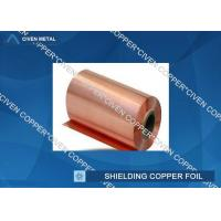Wholesale Extraordinary strength Shielding copper foil sheet roll , Conductive Copper Foil from china suppliers