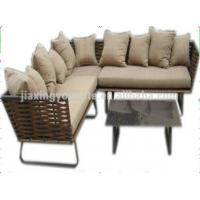 Wholesale Outdoor / Indoor L Shaped Outdoor Couch , Rattan Sofa Garden Furniture from china suppliers