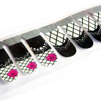 Wholesale Smooth nail surface 3D Finger Nail Stickers , OEM and ODM nail foil from china suppliers