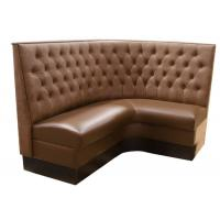 Wholesale Modern Durable Brown Restaurant Booth Furniture Square Sofa Boot from china suppliers