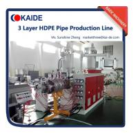 Wholesale PE irrigation pipe production machine 20-110mm 3 layer high speed extrusion 30m/min from china suppliers