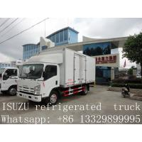 Wholesale hot sale ISUZU Euro4 120hp 3 ton 4x2 refrigerator cooling van for sale from china suppliers