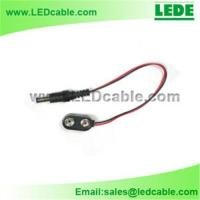 Buy cheap 9V Battery Clip with DC plug, DC power cord from wholesalers