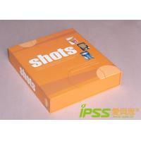 Buy cheap Custom Cardboard Packaging Boxes , Orange Pretty Book Shape from wholesalers