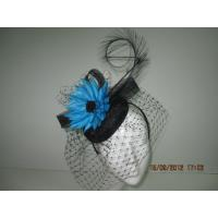 Wholesale Fashion Sinamay Ladies Fascinator Hats With Flower, Curled Feathers And Veil from china suppliers