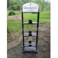 Wholesale 3 Layer Wine Display Stand Free Standing Custom Metal Liquor Display Shelves from china suppliers