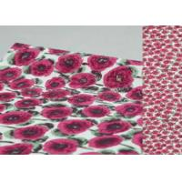 Wholesale Beautiful Printed Wool Fabric Brown Color For Winter Garment / Boiled Wool Coating Fabric from china suppliers