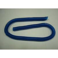 Wholesale Plastic Transparent Blue Coiled Bungee Lanyard Tether Ready for Attachment from china suppliers