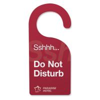 Wholesale PVC Custom shape door hangers for hotels to show information / Hang tags / Do not disturb from china suppliers