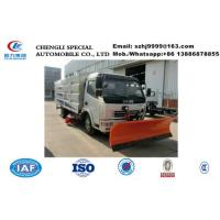 Wholesale Good dongfeng 4x2 vacuum sweeper truck with roller brush,Factory sale good price Dongfeng road sweeper vehcile with snow from china suppliers