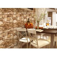 Wholesale 3D Effect Stone Strippable Beautiful Nature Wallpaper With Foam Process from china suppliers