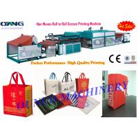Wholesale Roll to Roll Non Woven Screen Printing Machine for shopping bag label printed from china suppliers